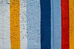 Regenboog kleurrijke bakstenen muur Royalty-vrije Stock Afbeeldingen