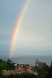 Regenboog in Lerici Stock Afbeelding