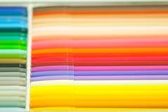 Regenboog magische pennen Stock Foto's