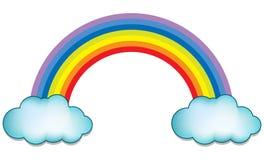 Regenboog met wolk royalty-vrije illustratie