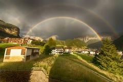 Regenboog na de onweersbui Royalty-vrije Stock Foto