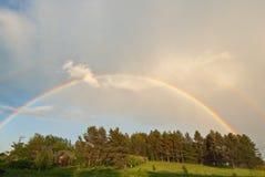 Regenboog na de regen Royalty-vrije Stock Foto
