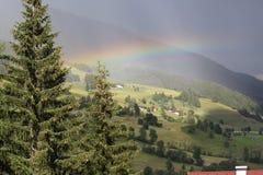 Regenboog na onweersbui Royalty-vrije Stock Foto