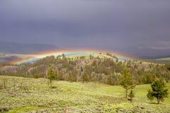 Regenboog in Onweer stock afbeelding