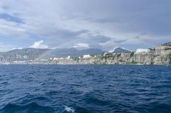 Regenboog op Amalfi kust Royalty-vrije Stock Afbeelding