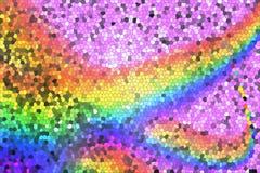 Regenboog op een roze achtergrond van mozaïek stock afbeeldingen