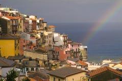 Regenboog op Middellandse-Zeegebied Royalty-vrije Stock Foto's