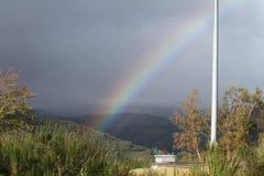 Regenboog over de Hooglanden van Schotland Royalty-vrije Stock Afbeelding