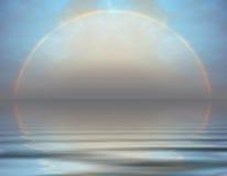 Regenboog over het overzees Royalty-vrije Stock Fotografie