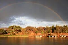 Regenboog over meer Tana Royalty-vrije Stock Afbeelding