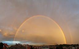 Regenboog over Wenen Royalty-vrije Stock Foto
