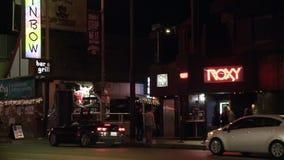 Regenboog Roxy Sunset Strip stock video
