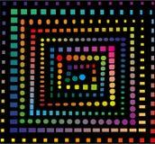 Regenboog spiraalvormig patroon Stock Fotografie