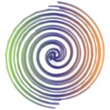 Regenboog spiraalvormige Achtergrond stock illustratie