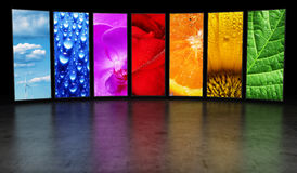Regenboog van beeldenachtergrond Stock Fotografie