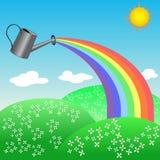 Regenboog van een gieter Royalty-vrije Stock Afbeeldingen