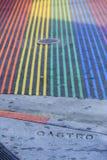 Regenboog van gestreepte kruising Stock Foto's