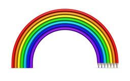 Regenboog van kleurpotloden Royalty-vrije Stock Afbeeldingen