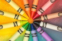 Regenboog van kleurpotloden Royalty-vrije Stock Foto's
