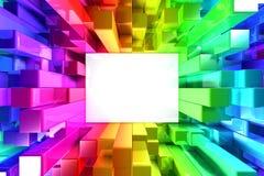 Regenboog van kleurrijke blokken Stock Afbeeldingen