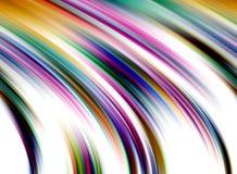 Regenboog vloeibare lijnen, achtergrond in gele roze tinten, abstracte achtergrond, fantasie stock illustratie