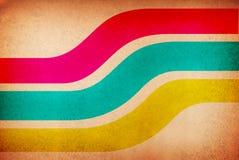 Regenboog zoals kleurenlagen tegen een grungy backgro stock illustratie