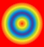 Regenboogachtergrond van geometrische vormen vector illustratie