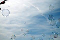 Regenboogbel in de hemel stock afbeeldingen