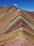 Regenboogbergen Peru stock foto