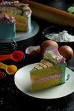 Regenboogcake royalty-vrije stock afbeelding