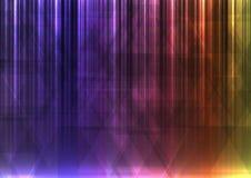 Regenboogdriehoek en de abstracte achtergrond van de lijnbar Royalty-vrije Stock Foto
