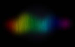 Regenbooggolf op zwarte abstracte achtergrond Royalty-vrije Stock Foto's