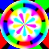 Regenbooggolven geproduceerde textuur Stock Foto