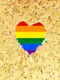Regenbooghart en de vrolijke de trotsvlag van LGBT Royalty-vrije Stock Fotografie