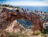Regenbooghol in Hogere Galilee, Israël royalty-vrije stock foto