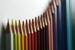 Regenboogkleurpotlood Royalty-vrije Stock Afbeeldingen