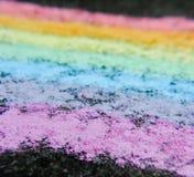 Regenboogkrijt op bestrating royalty-vrije stock afbeelding