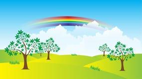 Regenbooglandschap Royalty-vrije Stock Afbeeldingen