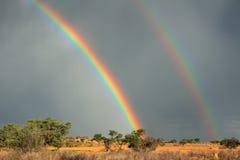 Regenbooglandschap Stock Afbeeldingen