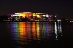 Regenbooglichten op de Potomac Rivier royalty-vrije stock afbeelding
