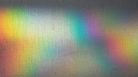 Regenbooglichten op muur Royalty-vrije Stock Foto