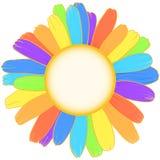 Regenboogmadeliefje royalty-vrije illustratie
