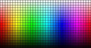 Regenboogmozaïek, tint en helderheid, op zwarte achtergrond Vector stock illustratie