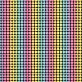 Regenboogpatroon op zwarte achtergrond Royalty-vrije Stock Fotografie