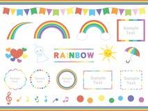Regenboogreeks royalty-vrije illustratie