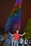 Regenboogtoren stock afbeelding