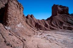 Regenboogvallei in de Atacama-Woestijn in Chili stock fotografie