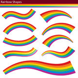 Regenboogvormen Royalty-vrije Stock Afbeelding