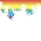 Regenboogwervelingen Stock Foto's