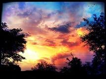 Regenboogwervelwind Stock Foto's